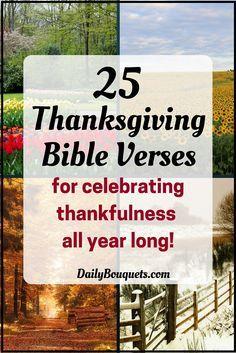 Here are 25 Thanksgiving Bible verses to help you celebrate thankfulness to God all year long!