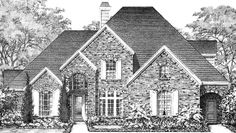 Eplans European House Plan - Four Bedroom European - 3580 Square Feet and 4 Bedrooms from Eplans - House Plan Code HWEPL70164