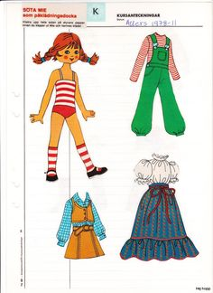 Allers 1970 - 1979 | Maggans nostalgiska klippdockor *1500 free paper dolls for Christmas at artist Arielle Gabriels The International Paper Doll Society and also free Asian paper dolls at The China Adventures of Arielle Gabriel *