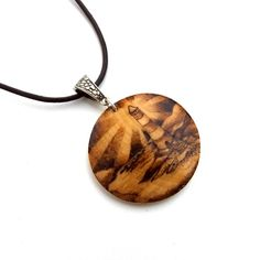 Lighthouse Brightly Shining Wooden Pyrography Pendant Necklace £18.95