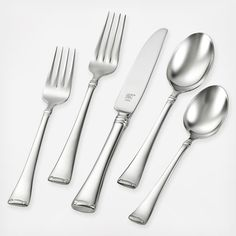 Square handles in a smooth, luster makes the Angelico Flatware Set from Zwilling J. Henckels a great choice for using every day. Made from stainless steel for optimal corrosion resistance, this set never loses its mirror finish. Fisher Price, Shops, Stainless Steel Dishwasher, Butter Knife, Flatware Set, Test Kitchen, Bath Decor, Accent Decor, Tableware