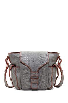 Snake Print Leather Handbag