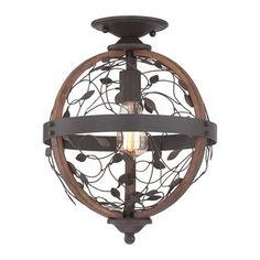 Quoizel CHB1612DK Chamber Flush Mount Ceiling Light