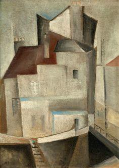 Street Scene, Paris, 1929 by Werner Drewes (German/American 1899-1985)