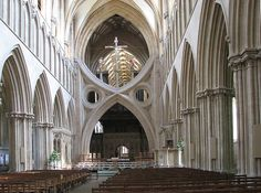Wells Cathedral, England. example of an 'Inverted Arch'. Domain: Arpingstone (interesting name given the moment!).