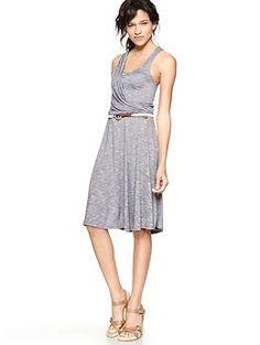 Asymmetrical striped dress
