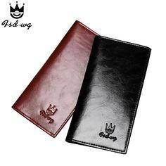new mens wallet long black brown wallets mens no zipper famous brand pursepu leather men clutch caid holder coins pockets bag
