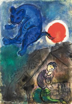 "Marc Chagall (1887-1985) - ""Le Poète"", 1949-50 - Gouache, india ink and pencil on paper"