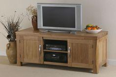 Andorra Solid Oak Widescreen TV + DVD Cabinet ANG001OAK