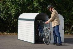 Metall-Fahrradbox mit gewölbtem Dach-verschließbar