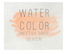 ETSY SHOP BANNER Watercolor design Simple Classic Watercolor Stroke on Texture Modern Simple design