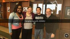 President Erickson is just as involved as our students! Here, he took some time to spend with the members of ASNMU.