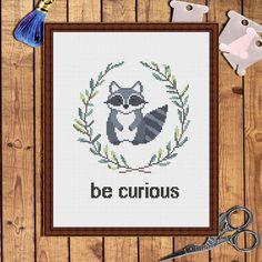 Be curious cross stitch pattern baby cross stitch por AnnaXStitch