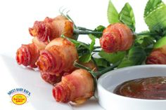 Bacon Roses with Sweet Baby Ray's award-winning BBQ Sauce (BFS code 1807511, packed 4/1 gal)