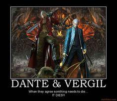 demotivational poster DANTE & VERGIL