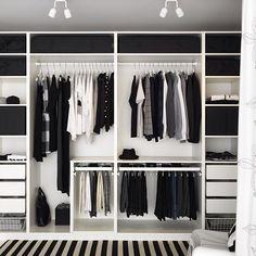 Endelig orden i garderoben. #IKEA #IKEAinspirasjon #PAX #garderobe #KOMPLEMENT #skapinnredning #oppbevaring #endeligorden by ikeanorge