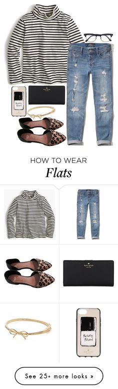 """""""josie's on a vacation far away"""" by legitimately-kierstin on Polyvore featuring J.Crew, Hollister Co., UGG, Kate Spade and Ray-Ban"""
