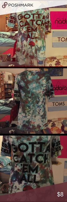 Pokémon tie dye Home made tie dye Pokémon shirt worn maybe 3 times Tops Tees - Short Sleeve