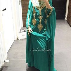 @arabianqueens @arabianqueens @arabianqueens  Be the Queen of Sabah ..tonight with our lovely #kaftanSabah 💚 in Green .. Available in a lot of colors all absolutely beautiful !  www.arabianqueens.com (profile link )  #Dubai #purple #love #Arabian #fashion #abaya #kaftan #gold #silver #zara #perfum #shoes #heels #wedding #occasion #event #modesty #queen #arabianqueens #womanday #cape #oriental #arabian #dubai #cape #modesty #spring #party #jewels #gold