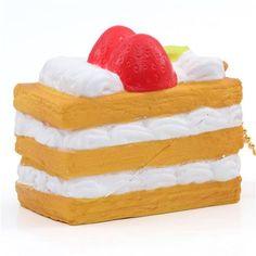 Premium Cafe de N, slow rising, soft mille-feuille sponge squishies charm for cellphone, bag, key etc., dessert
