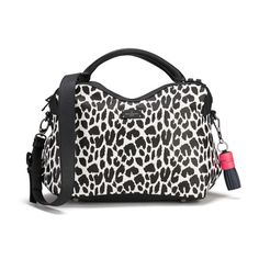 Paul's Boutique Lauren Graphic Leopard Tote Bag - White