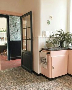 Pink Kitchen Cabinets a pastel pink kitchen cabinet in peter and paula mills home in