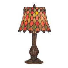 """Dale Tiffany Tiffany Manti 13.5"""" H Table Lamp with Bell Shade"""