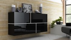 Komoda GOYA B Commode Design, Patio Grande, Suite Principal, Chest Of Drawers, Decoration, Projects To Try, Shelves, Black And White, Living Room