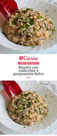 Risotto con radicchio e gorgonzola dolce