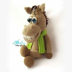 Amigurumi Pattern, Horse Crochet Pattern, Amigurumi Animal, Amigurumi Pattern Amigurumi Horse Crochet Horse by LovelyBabyGift Knitting works range from the time when ladies spend t. Bunny Crochet, Crochet Horse, Crochet Gratis, Crochet Amigurumi, Amigurumi Doll, Crochet Animals, Crochet Dolls, Crochet Baby, Free Crochet