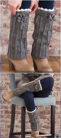 Crochet Long Boot Warmers Free Pattern - Crochet Boot Cuffs Free Patterns