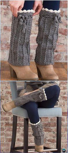 Crochet Long Boot Warmers Free Pattern - Crochet Boot Cuffs Free Patterns