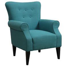 Emerald Home Furnishings Lydia Neon Button Back Arm Chair & Reviews | Wayfair