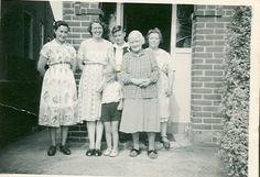 Edie Mutch, Edith and her son Micheal Bizley, Edith Bizley's mother, and Edie Mutch.
