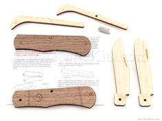 Woodpecker - Wooden Trapper - Parts Kit Hobby Kits, Cub Scouts, Magnetic Knife Strip, Knife Making, Folding Knives, Just For Fun, Gifts For Kids, Blade, Projects