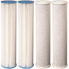 Denali Pure 12-Pack Replacement for Culligan HF-360 Polypropylene Sediment Filter Universal 10-inch 5-Micron Cartridge Compatible with Culligan HF-360 Whole House Sediment Filter Clear Housing