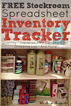 Free Home Stockroom Spreadsheet and Inventory Tracker!  I use this to save over $1,000 a year and a lot of time! No more trudging to Target with three screaming kids for me!