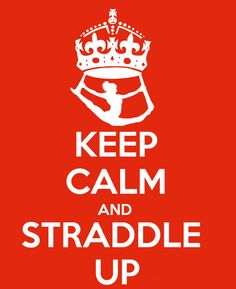 Keep Calm and Straddle Up - Aerial Silks