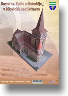 Papírový model - Kostel sv. Cyrila a Metoděje v Bílovicích