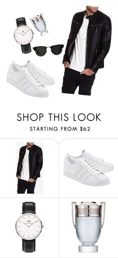 """Untitled #3"" by itsme-yola ❤ liked on Polyvore featuring NLY MAN, adidas Originals, Daniel Wellington, Paco Rabanne and Ace"