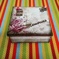 Caixa flores memória