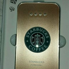 Starbucks Portable Charger (Coffee color) Starbucks portable power bank  1. Capacity: 8800mAh  2. Input: 5V/1A  3. Output: 5V/1A~2.1A  4. Material:Ultra-thin Polymer high quality power bank 5. High capacity 8800mAh mobile power 6. Power bank external battery 7. Rechargeable mobile phone   8. With LED indicator  9. Color: Coffee 10. Luxury Fashion Design Starbucks Accessories