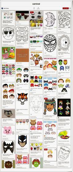 """El tablero de Pinterest """"Carnival"""", de Rafa R. Gómez, muestra numerosos materiales muy valiosos para el aula sobre el Carnaval."""