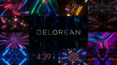 A concert visual package available at DanStevers.com: danstevers.com/store/delorean  Design/animation by Kevin Gautraud