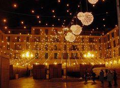 pale Christmas lights