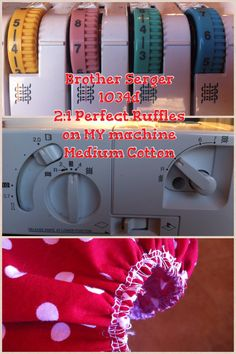 Brother Serger 1034d Perfect 2:1 ruffles on MY machine  Medium weight cotton