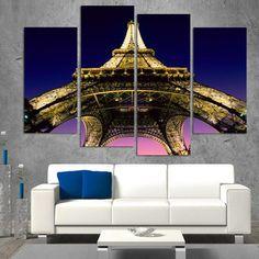 Eiffel Tower - 4 Panel Set