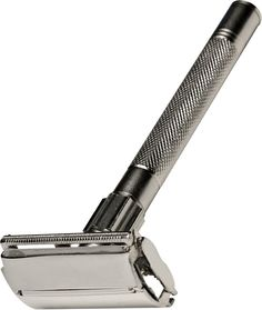 Men's Double-Edged Safety Razor: Our quality stainless-steel butterfly safety razor will leave your face feeling as smooth as when your dad taught you to shave for the first time. That's because this double-edged safety razor has thicker stainless steel blades that hold their edge better than thinner disposables. This classic double-edge razor, with a non-slip handle, has a good feel to it and accommodates any quality double-edged blade.