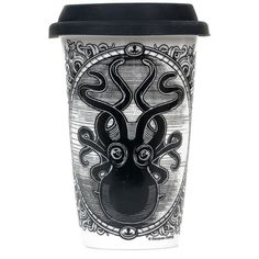 Black & White Kraken Up Tumbler (350 UYU) ❤ liked on Polyvore featuring home, kitchen & dining, fillers, drinks, accessories and black