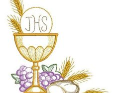 Communion Holly Chalice Machine Embroidery Designs Pack | Etsy